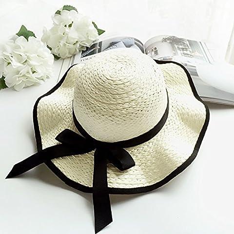 HAT,Enfants, ancienne summercap printemps fleurs grandes eaves, cap vacances plage hat, des chapeaux, casquettes et chapeaux de plage soleil,enfant,fonds Ivory