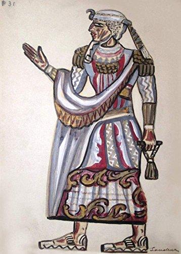Vintage Ballett Serge Sudeikin Kostüm Studie für eine Chancelor aus Die Zauberflöte c1927250gsm, glänzend, A3, vervielfältigtes Poster Der Vorderdeckel
