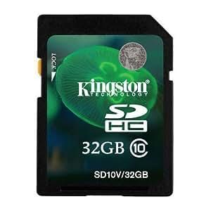 Kingston 32GB Class 10 SD SDHC Memory Card For Canon Powershot SX50 HS Camera