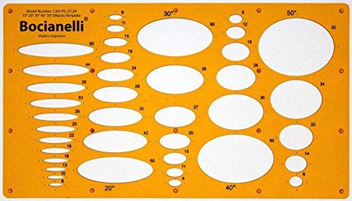 Schablone Zeichenschablone Technisches Zeichnen - Ellipse Ellipsen Ellipsenschablone Projektionswinkeln 10 20 30 40 50