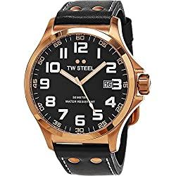 TW Steel Pilot Men's Quartz Watch Analogue XL Leather TW - 417