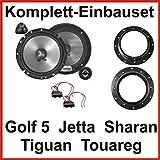 Lautsprecher Set für Golf 5, Jetta, Sharan sowie Tiguan und Touareg mit Clarion SRG1723S 2 Wege Komponenten System für die vorderen Türen
