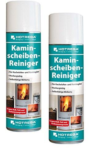 2 X Hotrega H130907 Kaminscheiben-Reiniger, Profi-Reiniger zur...