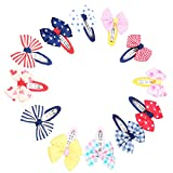 Sharplace 12stk Mehrfarbig Haarspange Fliege Schleife Deko für Kinder Mädchen
