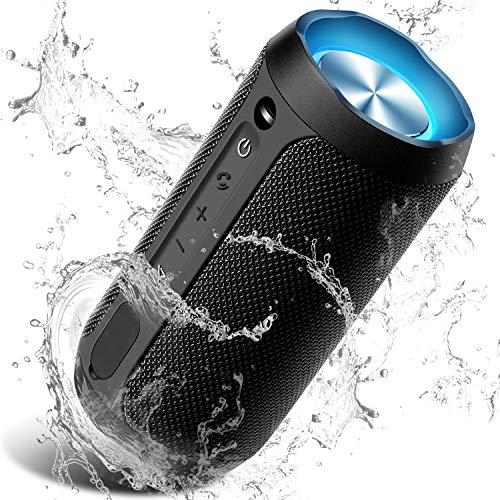 Wireless Bluetooth Lautsprecher Tragbare, 24W Verbesserter IP67 Wasserschutz, 24 Watt Wireless 360° Sound Kabelloser Lautsprecher Tragbarer mit eingebautem Mikrofon, für iOS, Android, TV