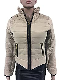 Womens Ladies Puffer Coat Jacket Bomber MA1 Bubble Side Elasticated Quilt Padded