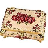 Boîte à bijoux Qy Argent Rétro Style Européen Boîtier Cosmétique Boîte De Rangement Boîte Artisanale Décoration Maison De Mode Petite Boîte
