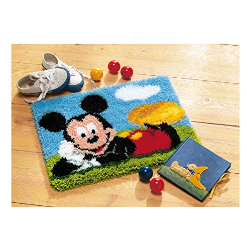 Vervaco–Kit para alfombra de Mickey Mouse de ganchillo Kit, multicolor