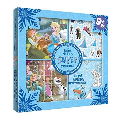 REINE DES NEIGES - Super coffret - Histoire, coloriages, stickers, puzzle