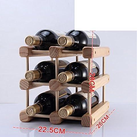 botellero de madera/estante del vino creativo/pino Decoración/muebles de estilo-A