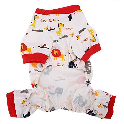 Ropa para Mascotas, Traje de algodón Transpirable Patrón de Elefante de Dibujos Animados Traje Ropa Trajes para Gato de Perro(SG)