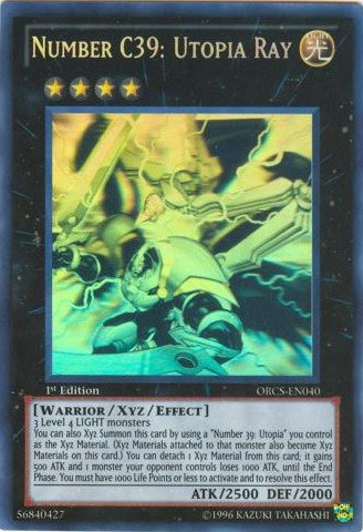 Yu-Gi-Oh! - Number C39: Utopia Ray (ORCS-EN040) - Order of Chaos - Unlimited Edition - Ghost Rare Rare by Yu-Gi-Oh!