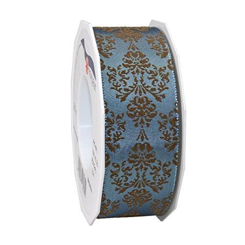 Morex Schleifenband 23840/20-224 Acetat, Barockband, 3,8 cm x 22m, Williamsburg Blue -