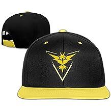 Hittings Kids Pokemon Go Team Instinct Yellow Zapdos Adjustable Snapback Cap Hip-hop Baseball Hat For Kids Yellow