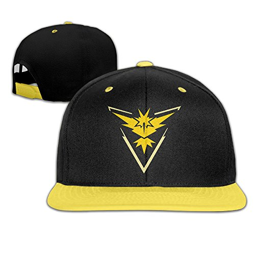 Hittings Kids Pokemon Go Team Instinct Yellow Zapdos Adjustable Snapback Cap Hip-hop Baseball Hat For Kids Yellow par  Hittings
