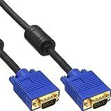 InLine 17805S cable VGA - cables VGA (0,5m, VGA (D-Sub), VGA (D-Sub)) Negro