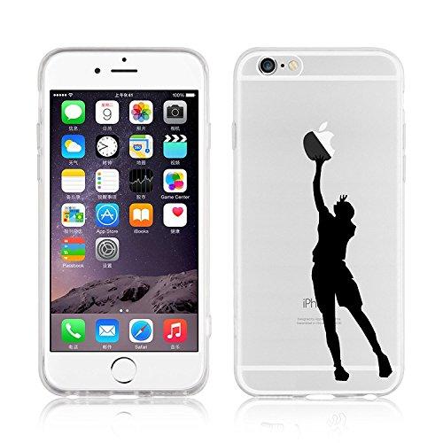 Blitz® WITZ Schutz Hülle Transparent TPU Cartoon Comic Case iPhone Papierflieger iPhone 5 Basketball