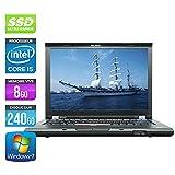 Lenovo ThinkPad T410–PC portatile–14,1'–nero (Intel Core i5–520M/2.40GHz, 8GB di RAM, HDD 240GB SSD, Masterizzatore DVD, webcam, Windows 7Professionale)
