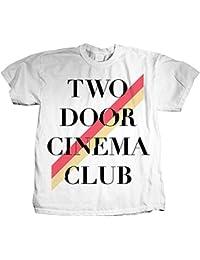 Two Door Cinema Club - Männer Stripe T-Shirt in Weiß
