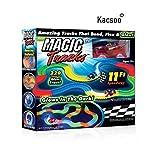 Kacsoo Magic Race Bend Flex and Glow Tracks-220 Pieces,Plastic Magic 11 Feet Long