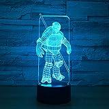 3D led Nachtlicht für Baby Schlafzimmer Visuelle Birne Optische Illusion Illusion Lampful Tischlampe Nachtlicht