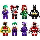 Batman Mini Figurines pour Lego Movie - Batman Robin Harley Quinn Joker 8 pièces