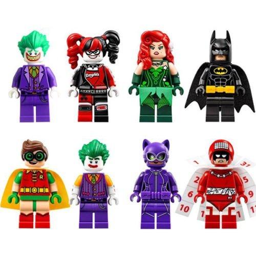 Batman Mini-Figuren für Lego Movie - Batman Robin Harley Quinn Joker, 8-teiliges Set (Lego Movie Batman Minifigur)