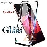 Marshland Full Screen Cover Tempered Glass 5D, 9H Extreme Hardness for Oppo F7 (Black)