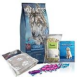 Wolf's Nature Getreidefreies Trockenfutter für Welpen aus Norwegen Junior Fjord-Lachs (20 kg + Gratis Buch, Snack, Spielzeug, Decke)