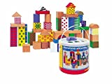Woodyland Bloques niño en un cubo con una tapa de Clasificación de la forma (50 piezas)