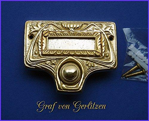 Graf von Gerlitzen Antik Messing Tür Klingel 1 Gründerzeit Türklingel Klingelschild K36P