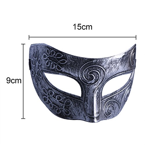 Image of Blulu Masquerade Mask Party Face Mask Venetian Masks for Halloween Masked Ball Fancy Dress Ball, Gold and Silver, 2 Pieces