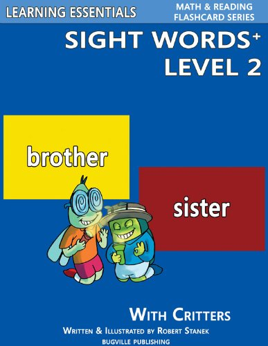 Sight Words Plus Level 2: Sight Words Flash Cards with Critters for Kindergarten & Up (Learning Essentials Math & Reading Flashcard Series) (English Edition)