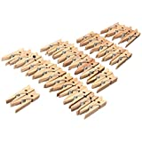 KingSo Mini-Wäscheklammern, 35mm, Holz, für Natur, Fotopapier, Haus, Dekoration, 100 Stück