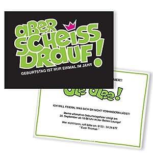 """Einladungskarten Geburtstag""""Egal""""   30 Stück   Inkl. Druck Ihrer Texte   Karte Einladung   Geburtstagseinladungen   Witzige Einladungskarte"""