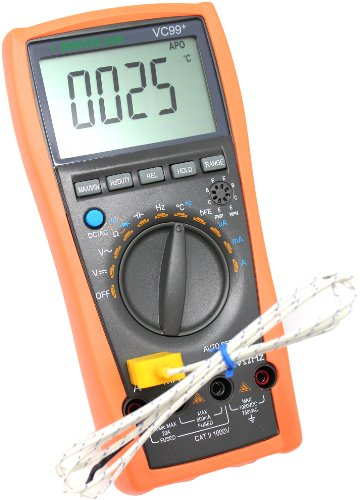 AideTek VC99+ Digital Auto Range Multimeter Tester Capacitor Amp Voltage AC DC Analog Bar Buzz by AideTek