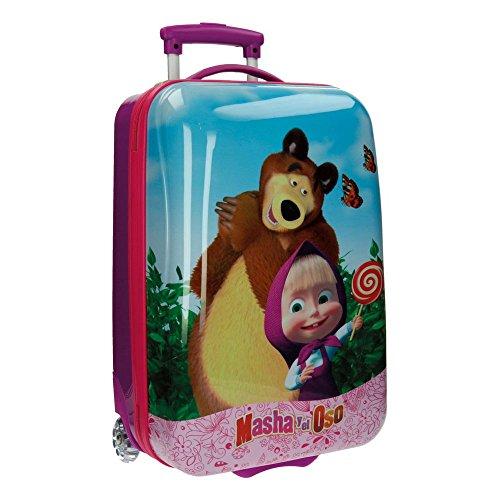 Masha e Orso in The Wood 4731251 Trolley da Cabina Rigido, 33 litri, ABS, Rosa