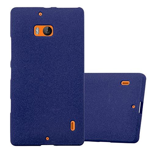 Cadorabo Custodia per Nokia Lumia 929/930 in Frost Blu Scuro – Morbida Cover Protettiva Sottile di Silicone TPU con Bordo Protezione – Ultra Slim Case Antiurto Gel Back Bumper Guscio