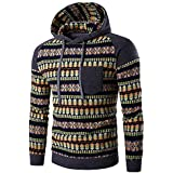 Ieason Men Top, Men's Autumn Winter National Style Pocket Print Long Sleeve Hoodie Top Blouse