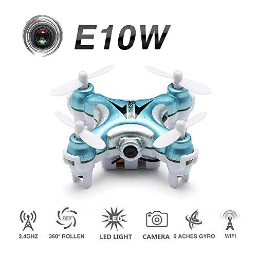 EACHINE E10W Mini Wifi FPV Quadcopter Drone With HD Camera Droni Radiocomandati Quadricottero Con Telecamera RTF Modalità 2