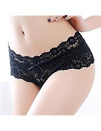 Lonlier Femme Sexy Culotte String Slip Dentelle avec Sangles Ajustable T  String à l entrejambe a1b263ef313