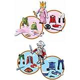 Playmobil 6528-9. Multi set Niño-Niña. Incluye 2 Figuras Playmobil intercambiables, Pirata, Soldado, Policia, Princesa, Hada o Amazona