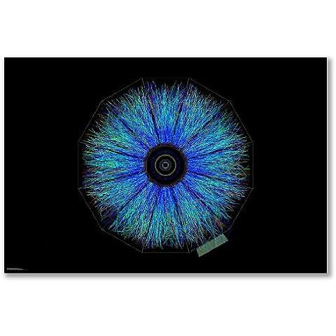 poster art print: Oro beam-beam eventi collisione particelle (A2Maxi–40,7x 61/16x 24in, Carta satinata semi-lucida) - 24in I-beam
