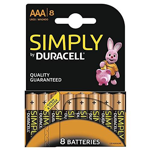 Duracell SIMPLY Batterie AAA (MN2400/LR03) 8er Duracell Coppertop Alkaline-aa-batterien