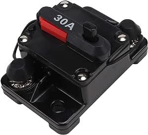 Suuonee Auto Leistungsschalter Sicherung 12v 12v 30a 40a 60a Auto Stereo Audio Reset Inline Leistungsschalter Selbstwiederherstellung Wasserdichte Sicherung Für Leistungsschalter 30a Auto