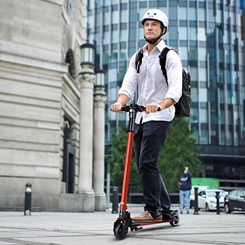 PARTU Elektro Scooter Faltbar & Höheneinstellbar Elektroroller mit 5.2 AH Batterie Höchstgeschwindigkeit Bis 27 km/h E-Scooter für Jugendliche Und Erwachsene (Die Neueste 2018)
