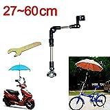 Umbrella Multi-Winkel Stecker Halter Für Fahrrad / Motorrad Rollstuhl / Kinderwagen / Pushchair mit Einfachem Schlüssel SCHWARZ (60CM)