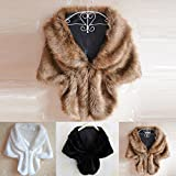 CLOOM Fake Fur Mantel Damen Winter ...