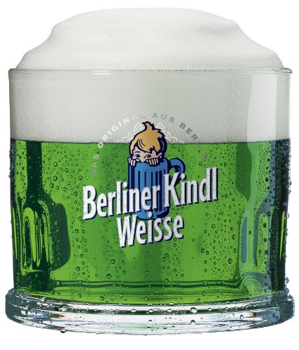 Berliner Kindl Weisse - Bicchieri tipici berlinesi, Kindl Weiss, set da 6, da 0,3 l