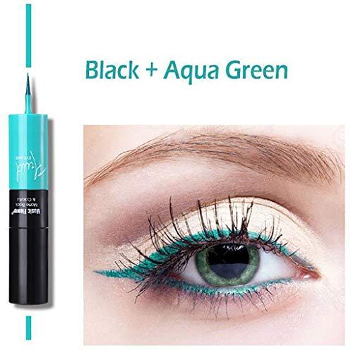 2 in 1 Easy Finger Tip Eyeliner Pencil Wasserdichtes Make-up Eyeliner Langlebig (Grün)